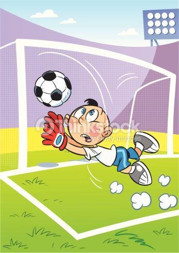 Vector Art : goalkeeper