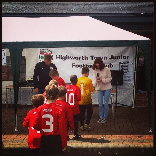 Our staff down at the Highworth Football Tournament supporting the teams playing. #football #trophy #richardjames #community