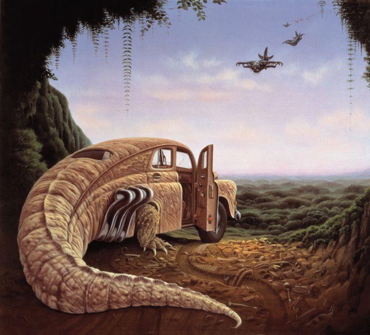Surreal Paintings of Whimsical Hybrid Creatures by Jacek Yerka - My Modern Met
