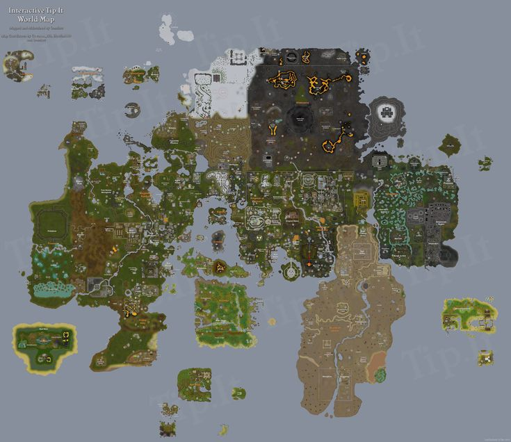 TipIt RuneScape Help  Full World Map  The Original RuneScape - new osrs world map in game