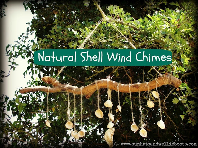 Natural shell wind chimes