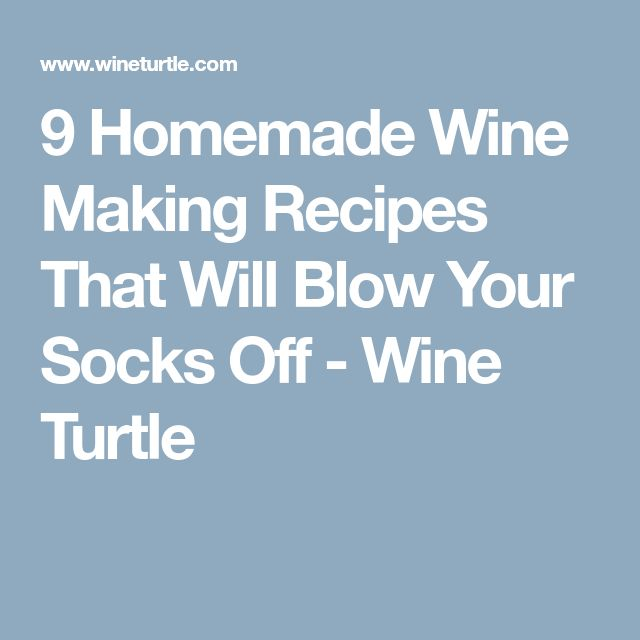 9 Homemade Wine Making Recipes That Will Blow Your Socks Off - Wine Turtle