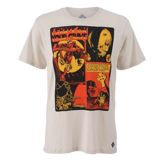 Iron Fist Skate on your Grave T-Shirt, 100% Cotton. Alternative Clothing