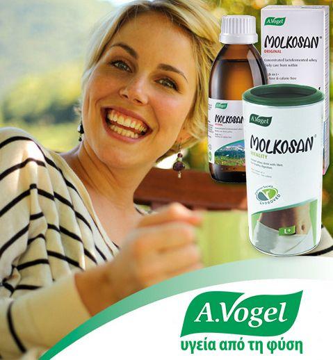 Tο Molkosan® συμβάλλει στην αποκατάσταση των υγιών βακτηρίων του εντέρου.Επιπλέον,έχοντας καλύτερη πεπτική λειτουργία μέσω ανάπτυξης φιλικών βακτηρίων,θα τονωθεί ο μεταβολισμός,βοηθώντας στον έλεγχο βάρους.  http://www.avogel.gr/product-finder/avogel/molkosan.php http://www.avogel.gr/product-finder/avogel/flora_balance.php