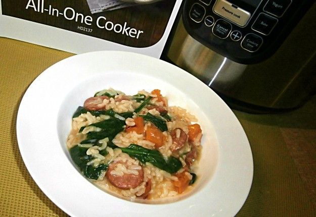 Pumpkin, Spinach and Chorizo Risotto - Real Recipes from Mums