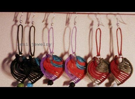 """Macrame earrrings """"Colorful leaves"""""""