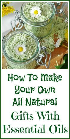 Easy all natural gift ideas with essential oils.