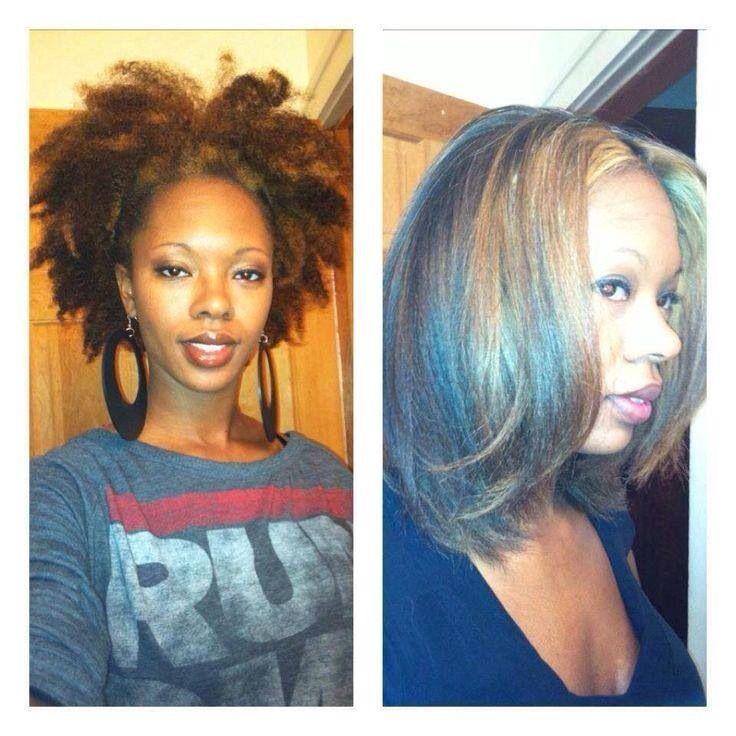 straighten afro