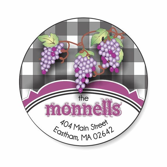Personalized Address Labels Stickers / Gingham & by AllisStudio, $5.25