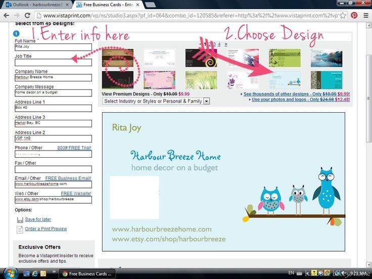 design business card step 1