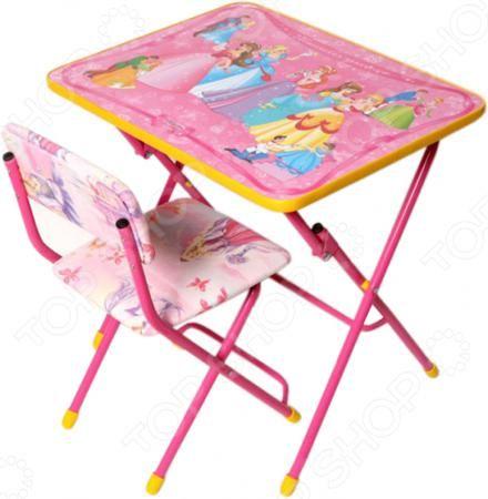Ника «Маленькая принцесса»  — 1530р. --------------------------- Набор мебели детский: стол и стул Ника Маленькая принцесса станет отличным приобретением для вашего малыша и прекрасно впишется в интерьер детской комнаты. В комплект входит столик и стульчик с мягким сидением. Мебель складная, снабжена подставками для ног и пластиковыми наконечниками, защищающими напольные покрытия от трещин и царапин. На столешницу нанесен яркий рисунок с изображением диснеевских принцесс . Набор…