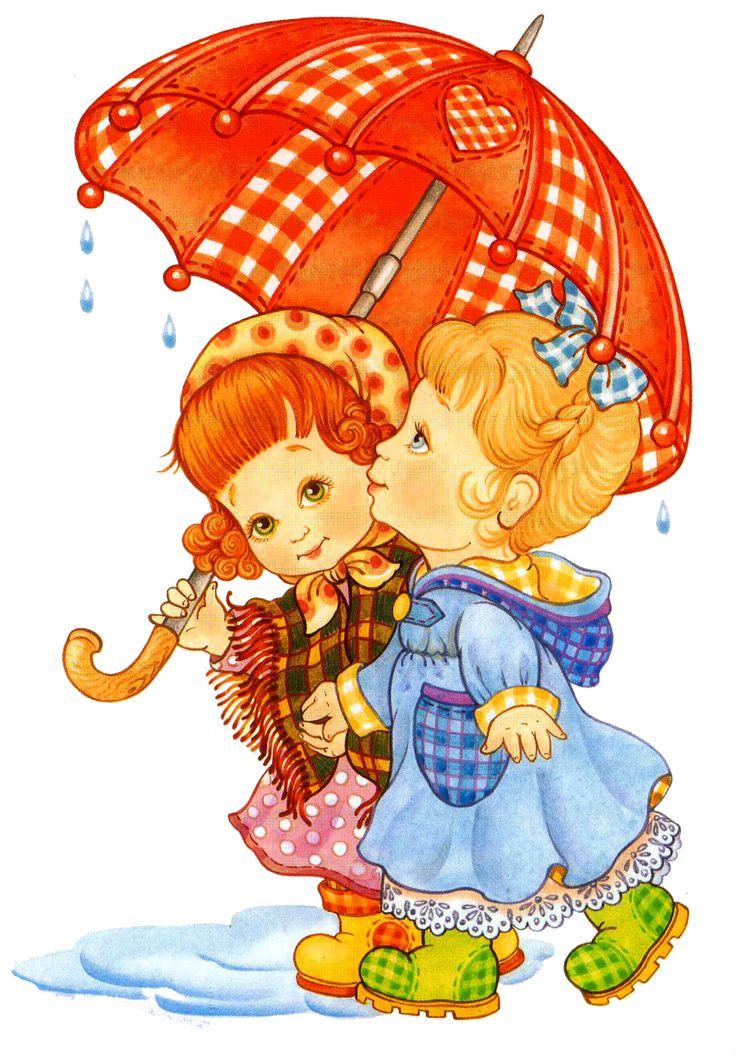 Рисунок прогулка под дождем
