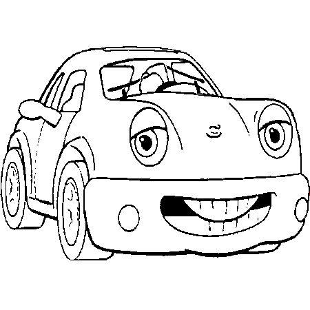 dessin auto a colorier