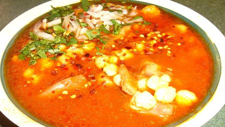 menudo cooked overnight in a crockpot (in español) | MENUDO ROJO con Pancita de res en olla lenta receta mexicana- Complacien...
