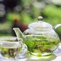 Зеленый чай с ромом пунш