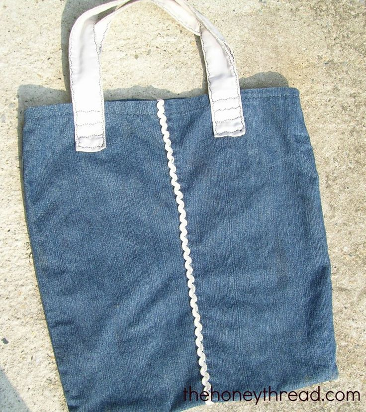 Shopper bag from old jeans