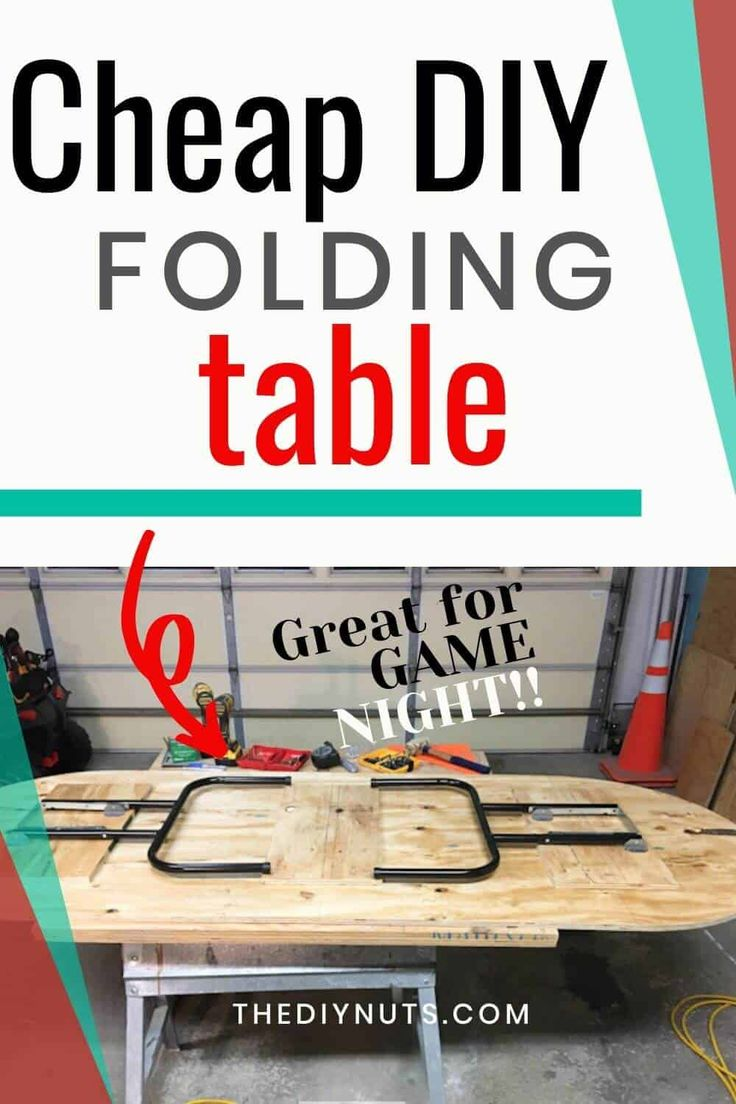 DIY Folding Table How To Make an Inexpensive DIY Game