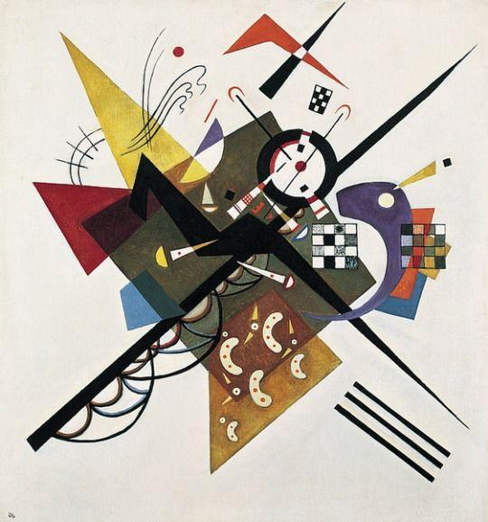 Wassily Kandinsky - On White II, 1923 huile sur toile, 105 cm x 98 cm, Musée National d'Art Moderne, Paris