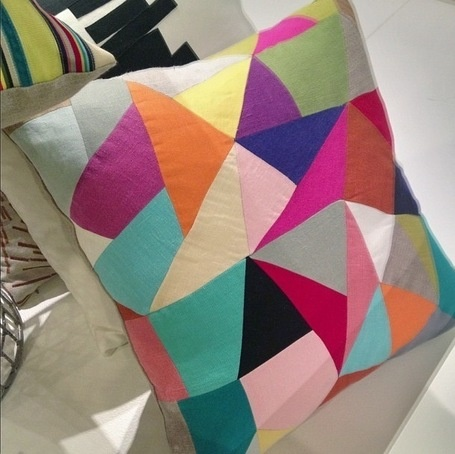 Edgy patchwork pillow from Dransfield via www.scoop.it