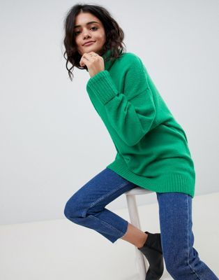 Image 1 of ASOS DESIGN eco chunky sweater in oversize with high neck ebec7bc44