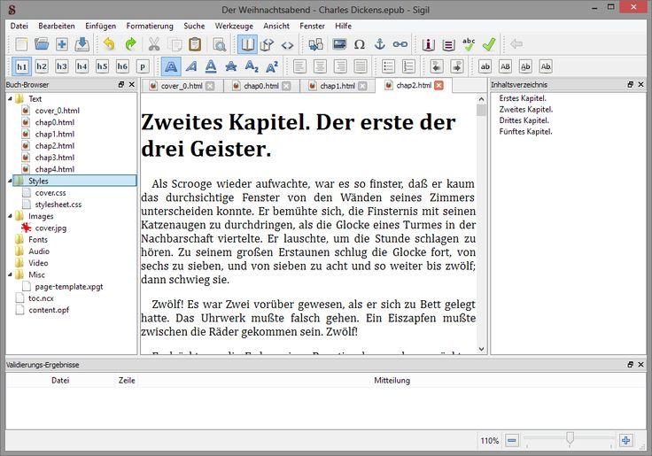 Vorstellung des Open Source -Programms Sigil, welches sich hervorragend zum Erstellen und Bearbeiten von eBooks eignet