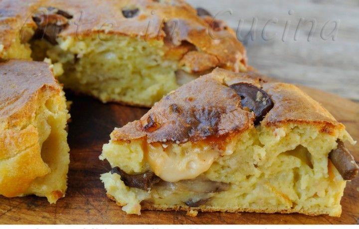 Torta con patate e funghi ricetta salata