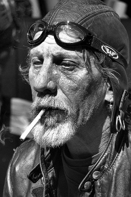 Old Biker // by willie's stuff, via Flickr                                                                                                                                                                                 Plus
