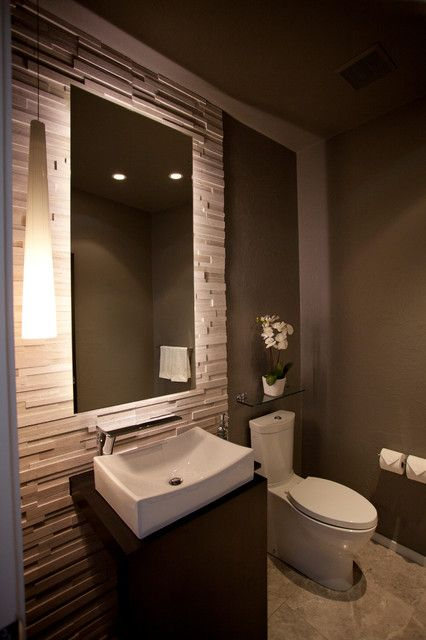 Contemporary Toilet Room - Realstone White Birch