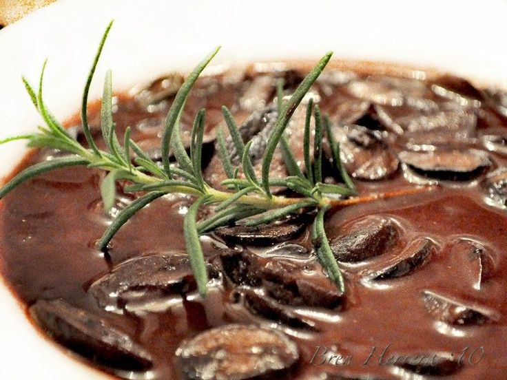 """Red Wine and Wild Mushroom Sauce Recipe : Tyler Florence : Food Network - Putting this in """"Main Dish"""" for its potential on grilled steak!"""