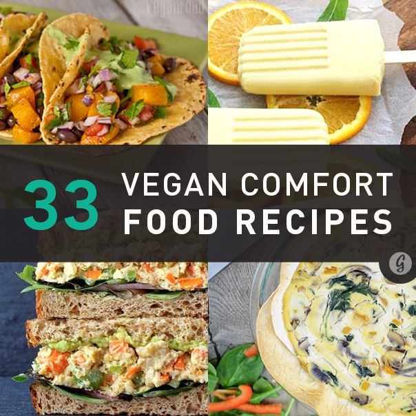 We've rounded up the internet's best vegan versions of your favorite comfort food. Because eliminating meat and dairy from your diet doesn't have to mean eliminating French toast, Caesar salad, lasagna, and more classic feel-good recipes.
