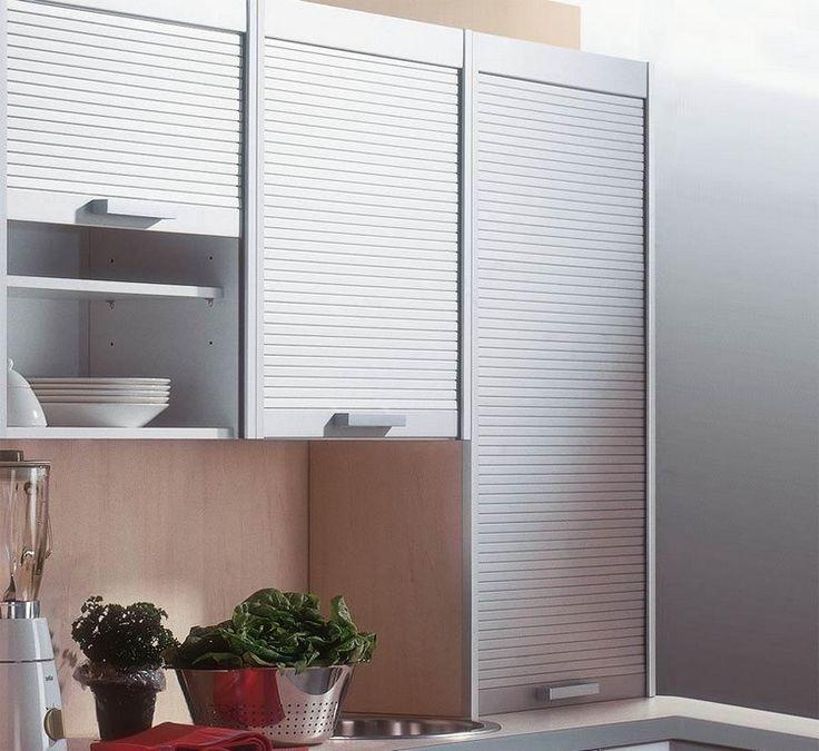 Elegante Jalousie-Türen für die Küchenschränke Wohnen - tuersysteme kuechenoberschraenke platzsparend