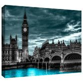 Found it at Wayfair Supply - 'London' by Revolver Ocelot Graphic Art on Wrapped Canvas