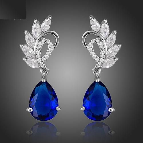 Blue Water Drop Earrings    BUY HERE => www.beeutifuljewels.com