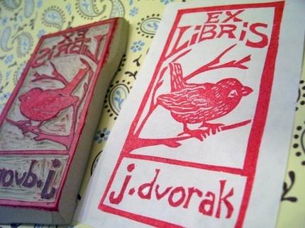 ex libris stamp zelfdoen
