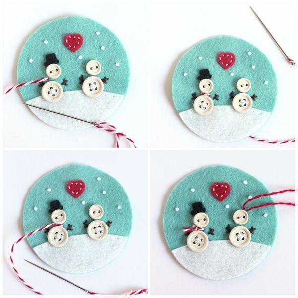 felt diy christmas ornaments christmas crafts button crafts felt crafts