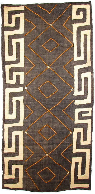 Hand-woven Kuba raffia cloth from The Congo. The African Fabric Shop : Textiles…