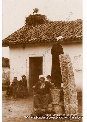 Tatar village mosque, Dobrogea, Eastern Romania. (old postcard -1920s-Valentin Mandache collection)