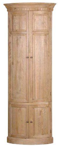 Weathered Oak Corner Cabinet Harvestmoon £1147