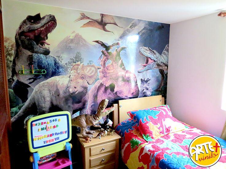 foto murales infantiles dinosaurios