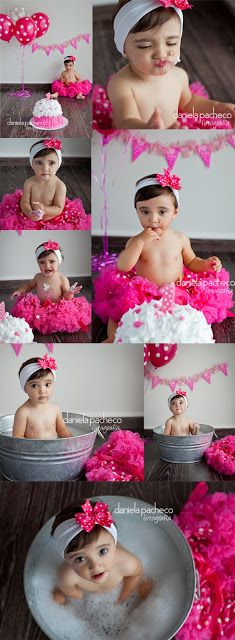 Fotografia de bebés * Explosión de color Smash the cake * fotos