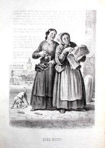"""""""Hvad nytt?"""" av Carl Andreas Dahlström, Stockholm, 1855."""