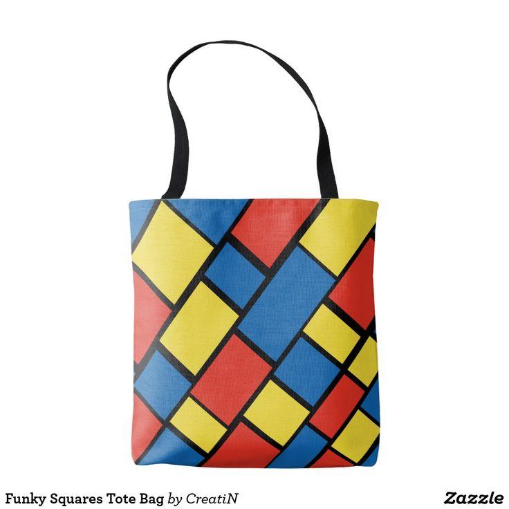 Funky Squares Tote Bag