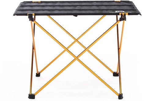 Overmont Camping Gear Aluminum Table Simple Fold Up Table Compact Portable  Ultra Light Card Table With ...
