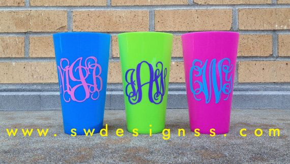 Personalized Cups, Plastic Tumblers, Bachelorette Weekend, Bridesmaids, Gifts,Set of 6