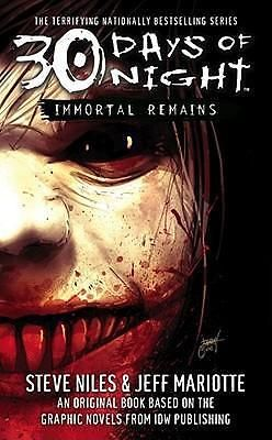 30 Days of Night, Immortal Remains: v. 2 by Steve Niles, 9780743496520.