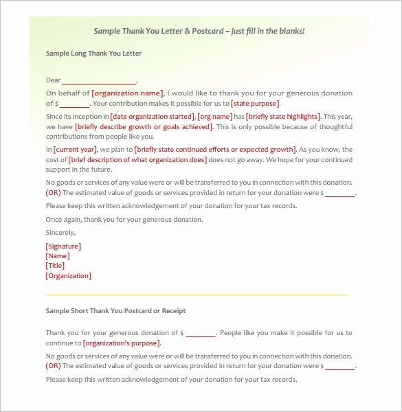 Donor Thank You Letter Template Beautiful Donor Thank You Letter Template 10 Free Donation Thank You Letter Thank You Letter Template Thank You Letter Sample