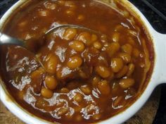 Killer Baked Beans... from Food.com: 								It is a recipe I came up with by playing around and everyone loves them. I have them when I have barbecues or with a catfish or chicken fry!!! As far as taste it all blends in and is just awesome.