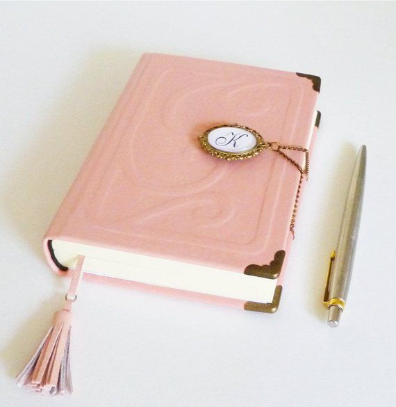 Custom Leather Journal Pink Diary Notebook Personalized Unique Etsy In 2021 Leather Journal Personalised Leather Journals Custom Leather Journal