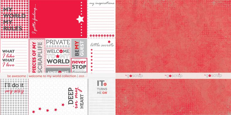 be awesome >> welcome to my world collection #scrapbooking
