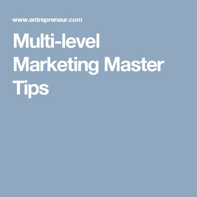 Multi-level Marketing Master Tips